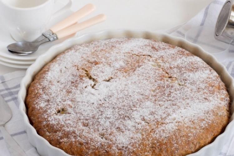 Обалденный пирог с бананами и маком
