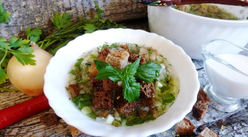 Тюря - русских холодный суп на квасе