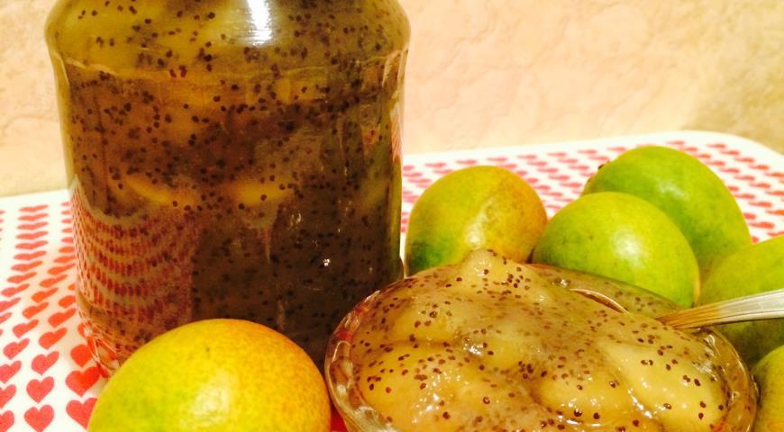 Невероятно вкусное грушевое варенье с маком и ванилью