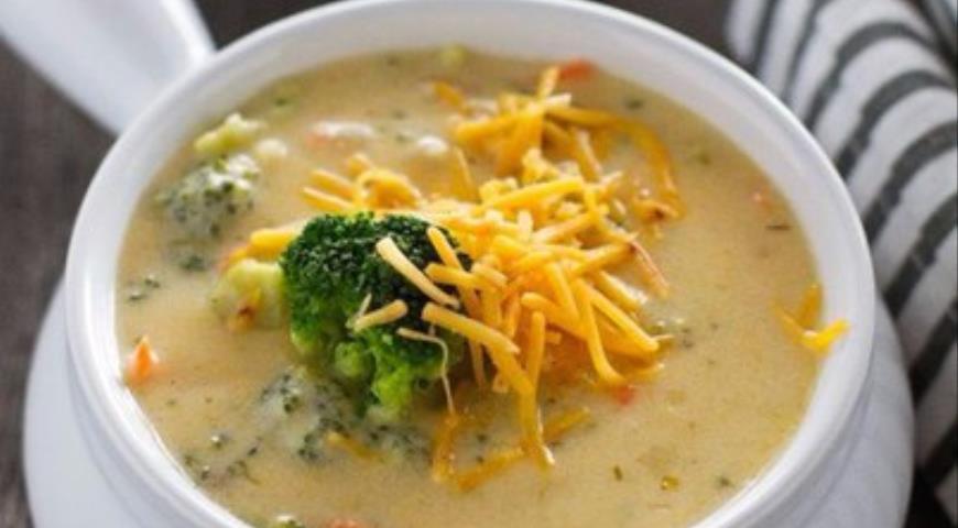 Идеальный сырный суп с шампиньонами и брокколи