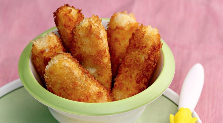 Диетический обед: низкокалорийные рыбные палочки