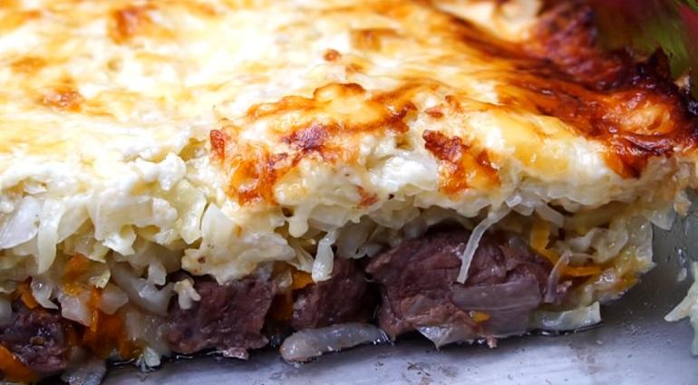 Мясо под капустной «шубкой»: из серии «все сложили – и забыли»