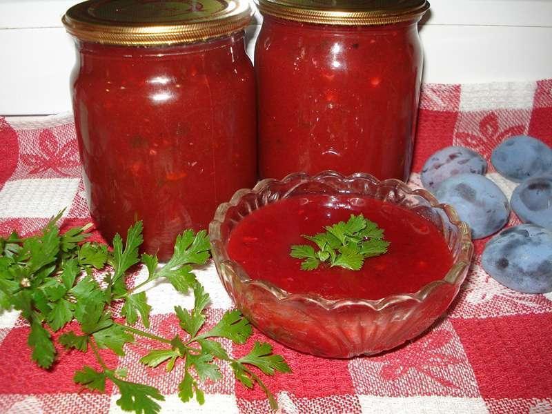 Остренький соус из синих слив (готовим на зиму)