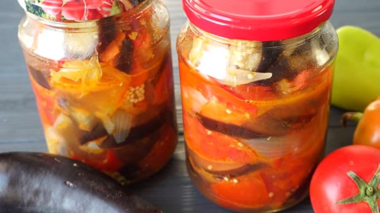 Салат из баклажанов «Пятерочка»: закрываем на зиму