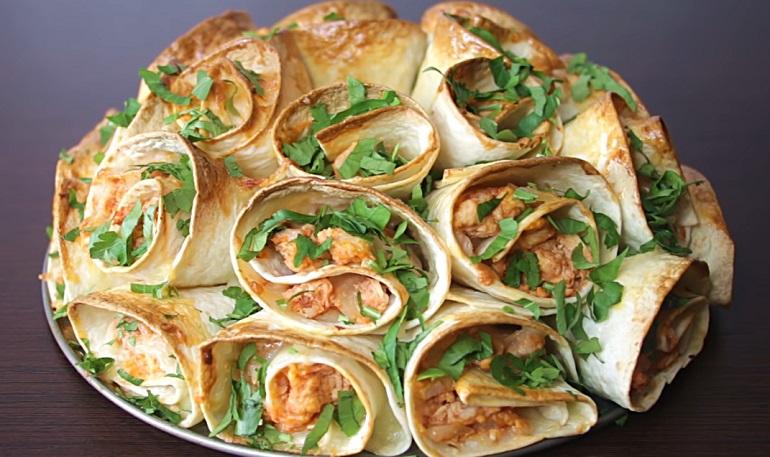 Шикарная закуска из лаваша: красивая и вкусная