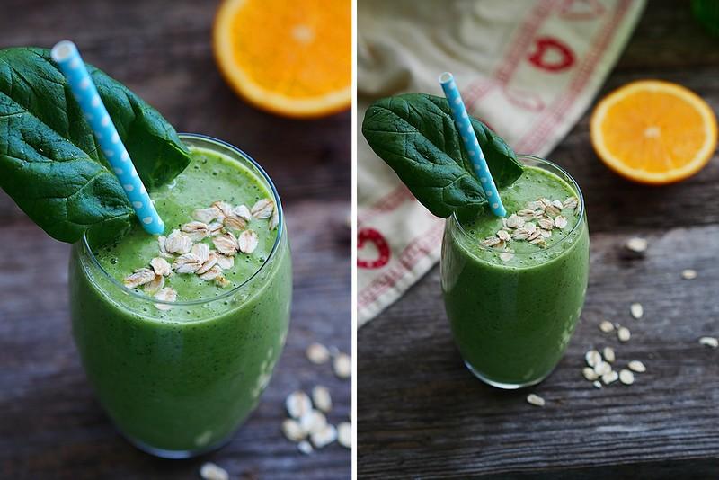 Правильный завтрак: овсянка с зеленым смузи