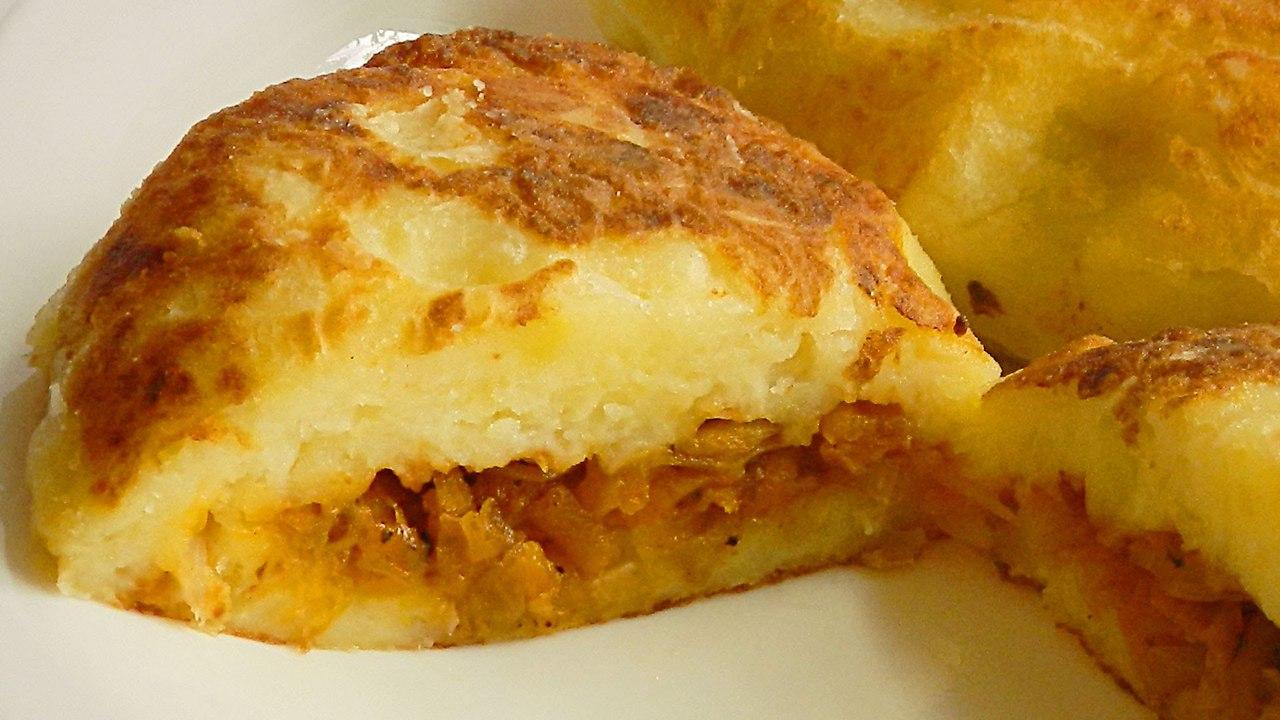 Постное блюдо - картофельные зразы с капустой