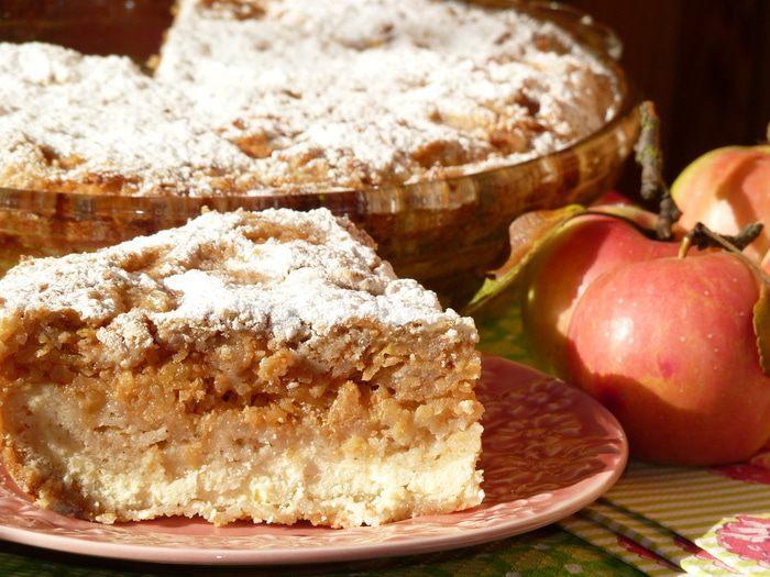 Болгарский пирог с творогом и яблоками