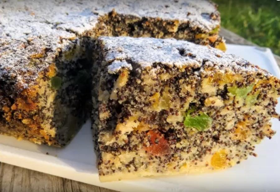 Необыкновенно вкусный пирог без муки с маком и яблоками
