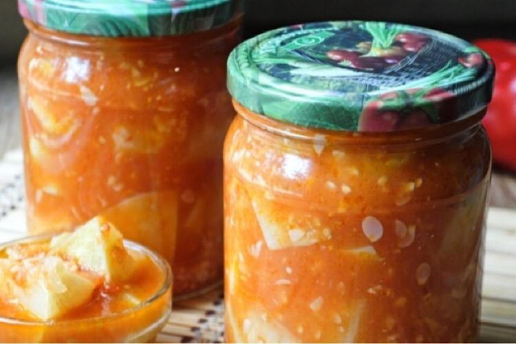 Обалденные патиссоны в томатной заливке