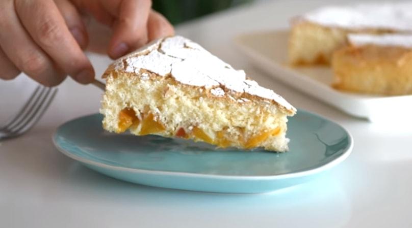 "Потрясающий пирог с персиками ""Облако"""
