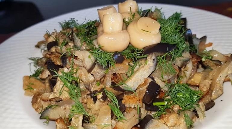 Баклажаны с грибным вкусом: потрясающе вкусная закуска