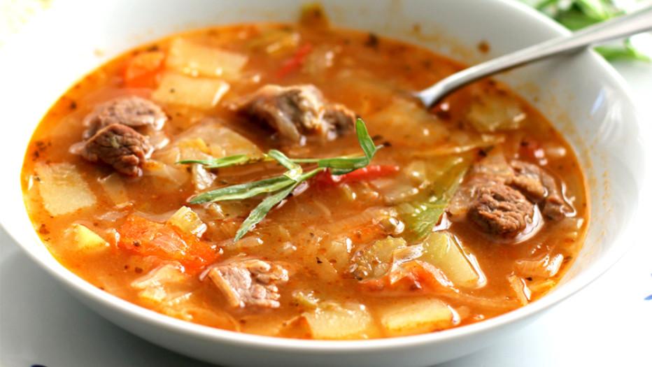Вкусное блюдо к обеду - щи из баранины