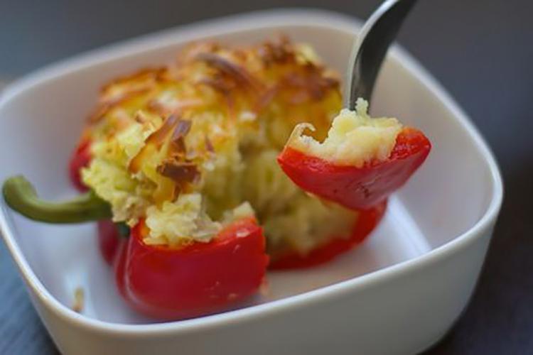 Перец, фаршированный картофелем (постное блюдо)
