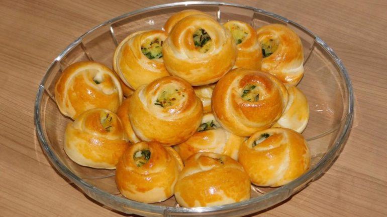 Самые вкусные пирожки с картошкой «Розочки»