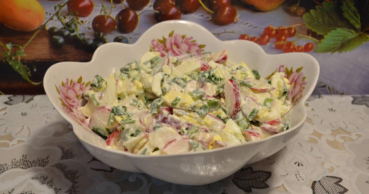 Простой и вкусный салат из редиса