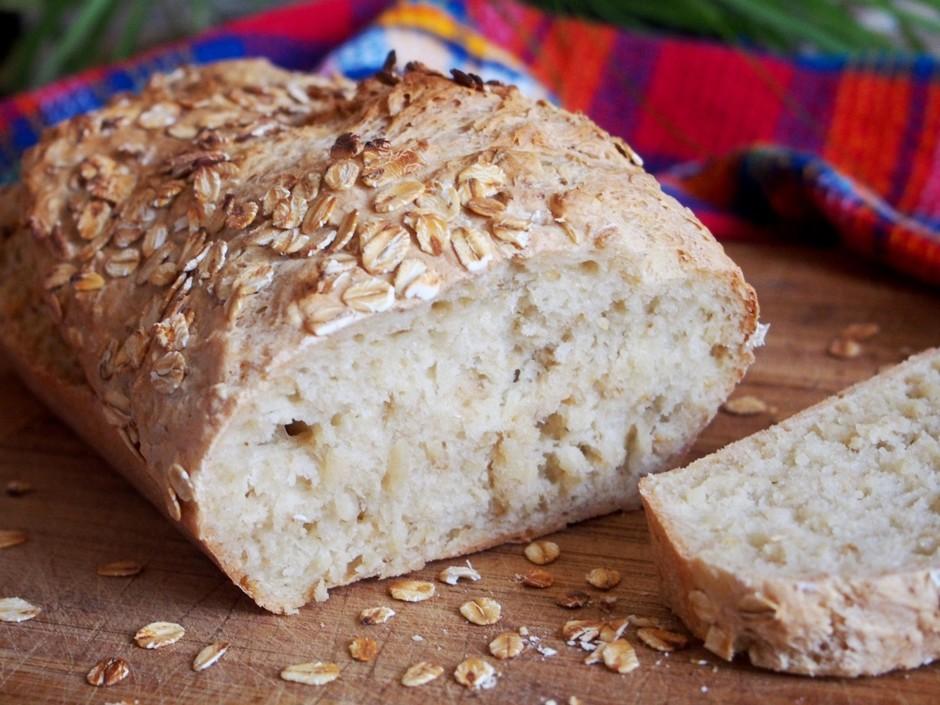 Овсяный хлеб без замеса-очень вкусный и ароматный