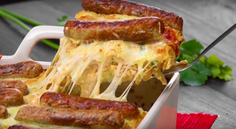 Запекаем колбаски с сыром в духовке. Теперь готовим ужин только так