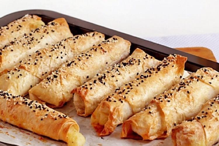 Мега аппетитные трубочки из лаваша с картошкой