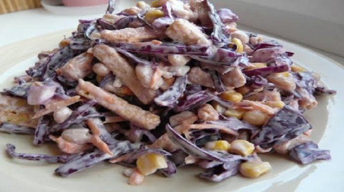 Обалденный хрустящий салат без майонеза: понравится всем