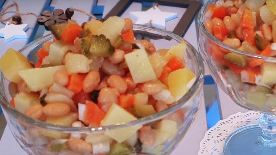 Вкуснейший картофельный салат с фасолью
