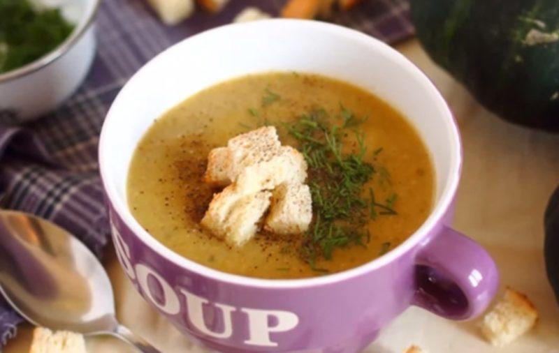 Отменный суп-пюре из грибов и патиссонов