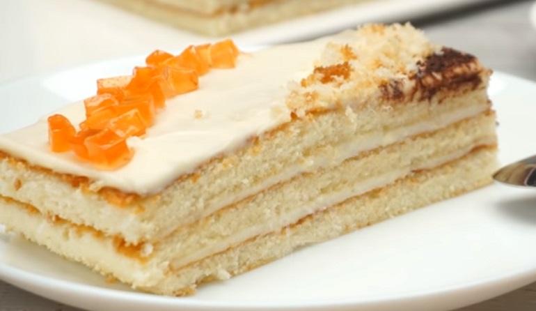 Бисквитный торт «5 ложек»: быстрый и невероятно вкусный