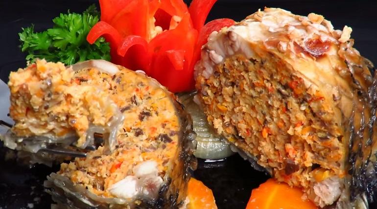 Фаршированная рыба: настоящее украшение любого праздничного стола!