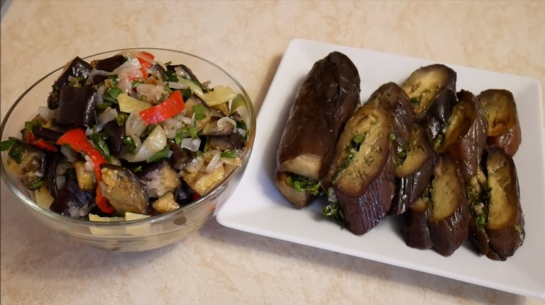 Две закуски к любому столу: обалденные маринованные баклажаны