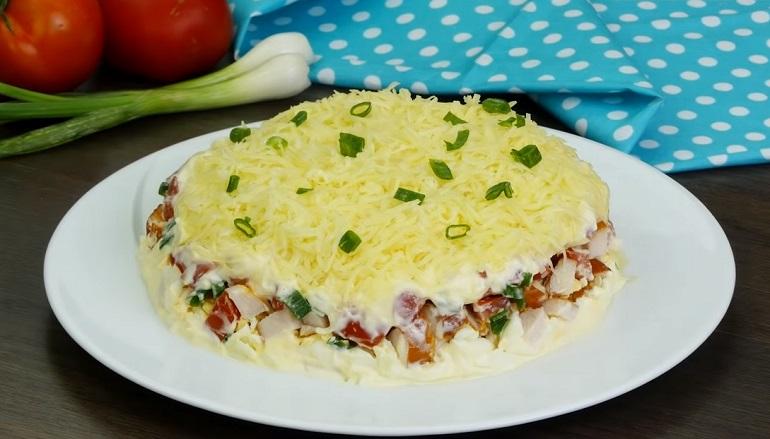 Простой, но изумительно вкусный салат «Минутка»: вам понравится