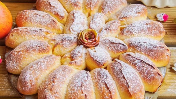 Сдобный пирог с яблоками-невероятно вкусный
