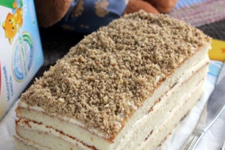 Очень вкусный тортик из детской смеси