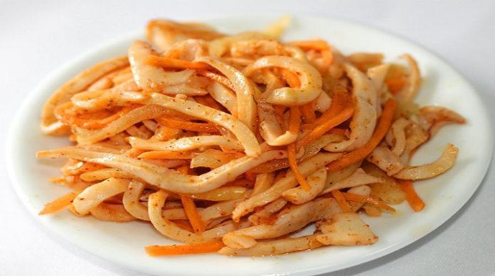 Салат «Кальмары по-корейски»: вкусная закуска