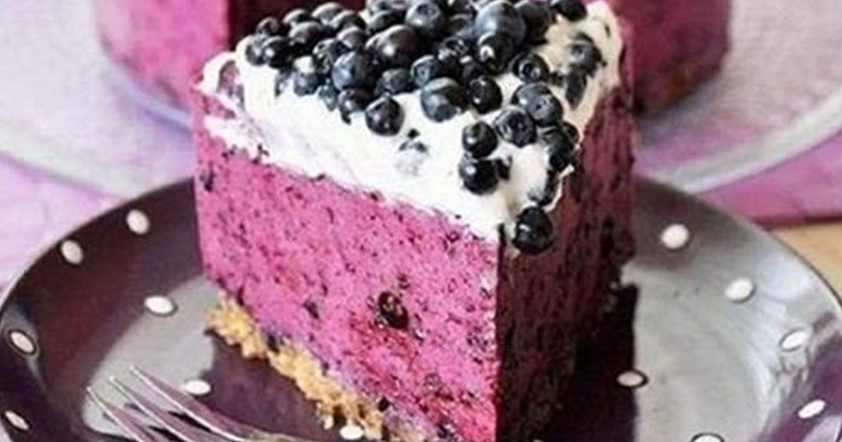 Черничный творожник-вкусный низкокалорийный десерт