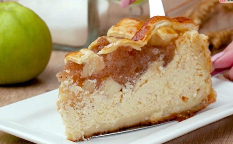 Непревзойденный яблочный чизкейк