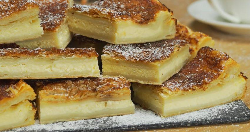 Обалденный творожный пирог с хрустящей карамельной корочкой