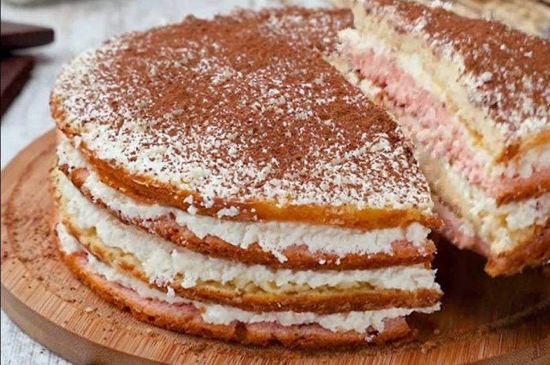 Нежный кисельный торт