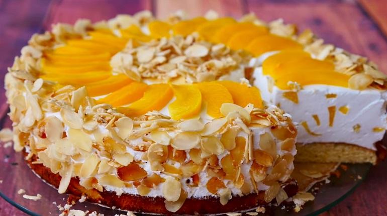 Настоящий кулинарный шедевр: бисквитный торт «Первый поцелуй»
