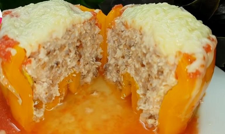 Необычное приготовление классического блюда: болгарский перец, фаршированный гречкой и мясом