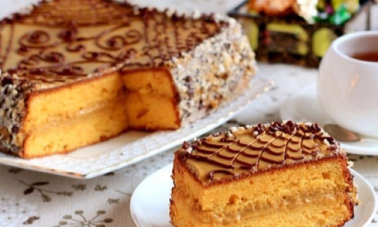 Восхитительный тыквенный торт с карамельным кремом