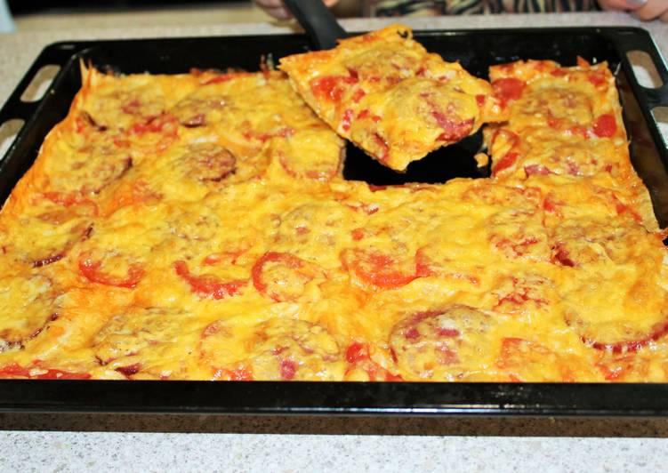Гости будут в восторге-быстрая пицца и никакой возни с тестом