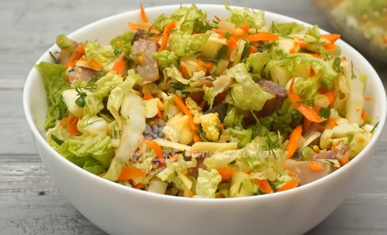 ТОП-5: салаты с пекинской капустой – легкие и очень вкусные