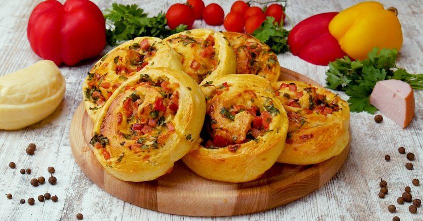 Обалденные закусочные булочки с ветчиной и сыром