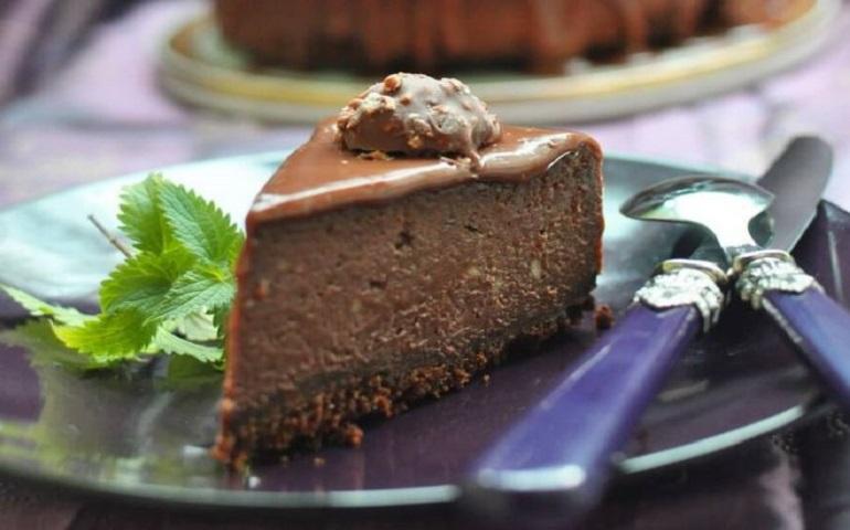 Творожный шоколадный чизкейк: потрясающе вкусный десерт