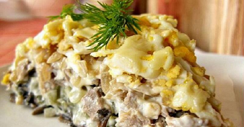"""Невероятно вкусный салат """"Орландо"""" с отварным языком"""