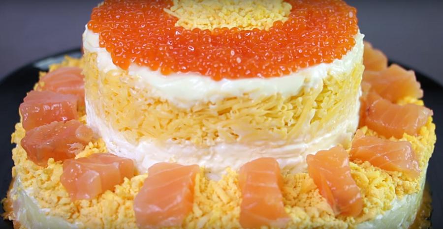 """Новогодний """"Царь"""" стола-вкусный и яркий салат"""