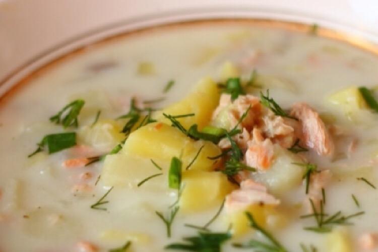 Отменный финский суп с горбушей