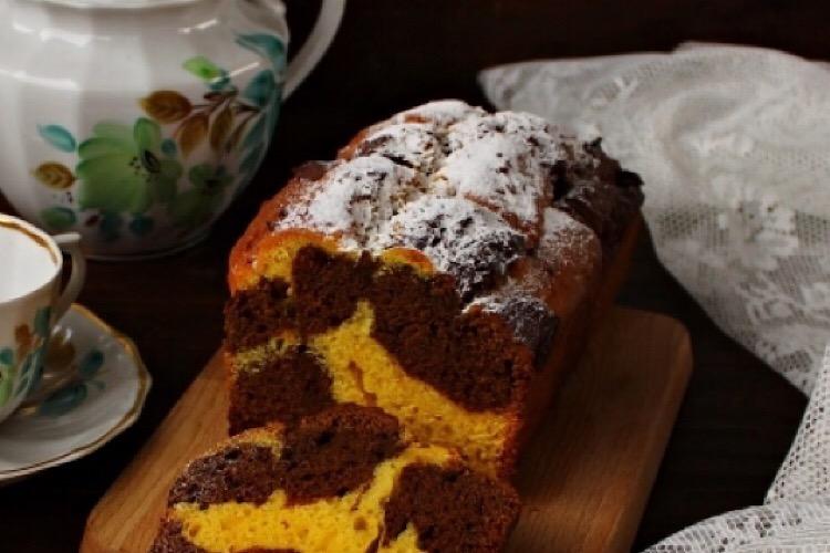 Божественно вкусный мраморный тыквенный кекс