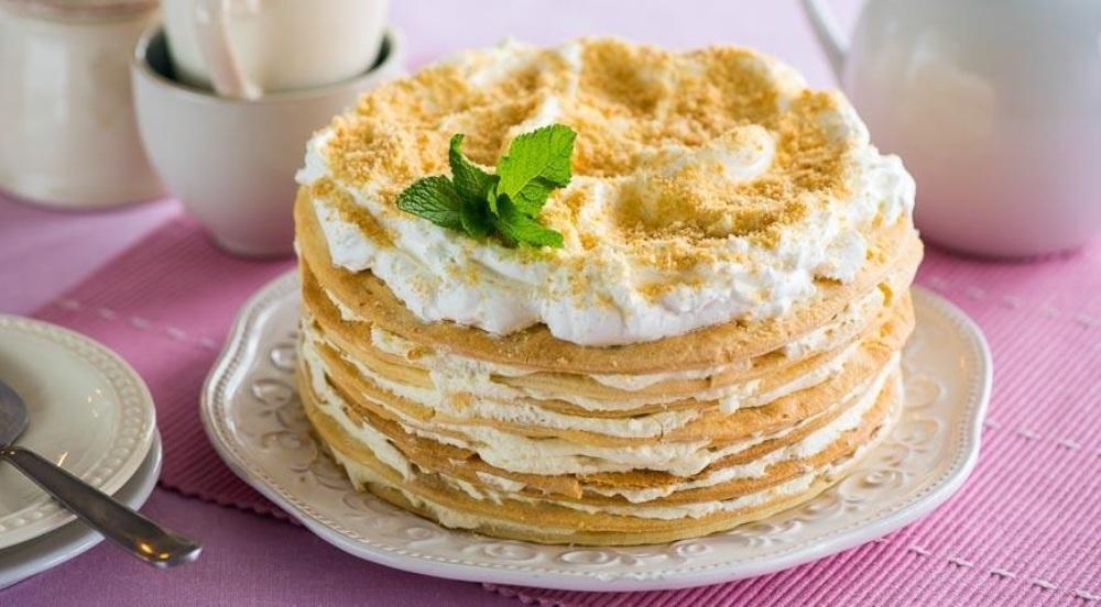 """Самый вкусный торт """"Наполеон"""" с ванильным кремом"""