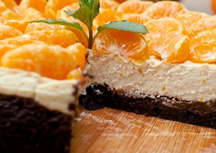 Восхитительный чизкейк с пряными мандаринами